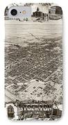 Stockton San Joaquin County California  1895 IPhone Case by California Views Mr Pat Hathaway Archives