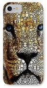 Stone Rock'd Lion 2 - Sharon Cummings IPhone Case