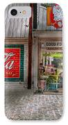Store Front - Life Is Good IPhone Case by Mike Savad