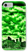 Storm Over The Emerald City IPhone Case by David Patterson