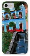 Street Hill In Old San Juan IPhone Case