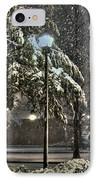 Street Lamp In The Snow IPhone Case by Benanne Stiens