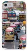 Street Scene In Hong Kong IPhone Case by Matteo Colombo