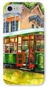 Streetcar On St.charles Avenue IPhone Case by Diane Millsap
