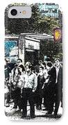 Streets Of New York City 17 IPhone Case by Mario Perez
