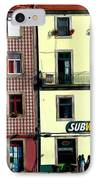 Subway - Porto IPhone Case by Mary Machare