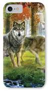 Summer Wolf Family IPhone Case by Jan Patrik Krasny