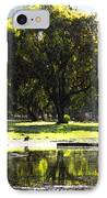 Sunday In The Park IPhone Case by Anne Mott