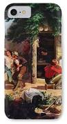 Sunday Morning In The Mines IPhone Case by Charles Nahl