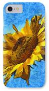 Sunflower Abstract IPhone Case by Unknown