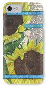 Sunflower Dictionary 2 IPhone Case by Debbie DeWitt