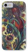Sunflower Woman #1 IPhone Case by Avonelle Kelsey
