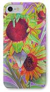 Sunflowers IPhone Case by Joshua Morton
