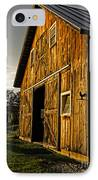 Sunset On The Horse Barn IPhone Case by Edward Fielding