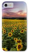 Sunset Sunflowers IPhone Case