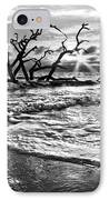 Surf At Driftwood Beach IPhone Case by Debra and Dave Vanderlaan