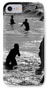 Surf Swimmers IPhone Case by Sean Davey