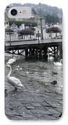 Swans And Ducks In Lake Lucerne In Switzerland IPhone Case