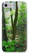 Swirled Forest 1 - Digital Painting Effect IPhone Case