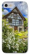 Swiss Chalet In The Garden IPhone Case by Debra and Dave Vanderlaan