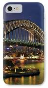 Sydney Harbour Bridge By Night IPhone Case by Kaye Menner