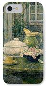 Table Laden For Spring IPhone Case by Henry Eugene Le Sidaner