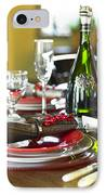 Table Setting With Red And White IPhone Case