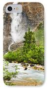 Takakkaw Falls Waterfall In Yoho National Park Canada IPhone Case