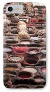 Tanning Vats In Morocco IPhone Case by Carl Purcell