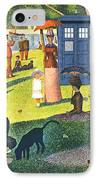 Tardis V Georges Seurat IPhone Case by GP Abrajano
