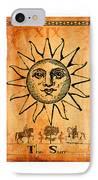 Tarot Card The Sun IPhone Case by Cinema Photography