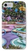 Tea Cup Ride Fantasyland Disneyland IPhone Case by Thomas Woolworth