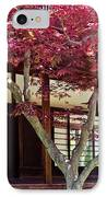 Tea House Thru The Maple IPhone Case