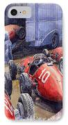 Team Ferrari 500 F2 1952 French Gp IPhone Case