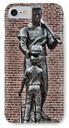 Ted Williams Statue - Boston IPhone Case by Joann Vitali
