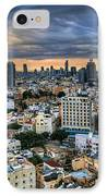 Tel Aviv Skyline Winter Time IPhone Case by Ron Shoshani