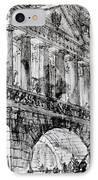 Temple Courtyard IPhone Case by Giovanni Battista Piranesi