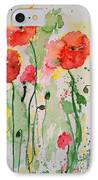 Tender Poppies - Flower IPhone Case by Ismeta Gruenwald