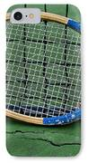 Tennis - Vintage Tennis Racquet IPhone Case