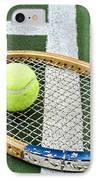 Tennis - Wooden Tennis Racquet IPhone Case by Paul Ward