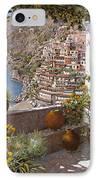 terrazza a Positano IPhone Case by Guido Borelli