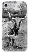Texas Longhorns A Texas Icon IPhone Case by Christine Till