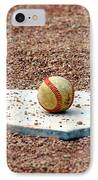The Ball Of Field Of Dreams IPhone Case by Susanne Van Hulst