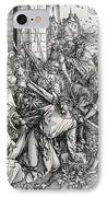 The Bearing Of The Cross From The 'great Passion' Series IPhone Case by Albrecht Duerer