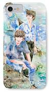 The Beatles At The Sea - Watercolor Portrait IPhone Case