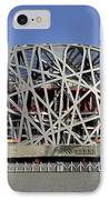 The Beijing National Stadium - Site Of 2008 Olympic Games IPhone Case by Brendan Reals