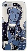 The Black Madonna In Blue IPhone Case