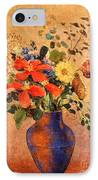 The Blue Vase IPhone Case by Odilon Redon