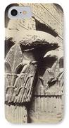 The Capitals Of The Portico Of The Temple Of Khnum In Esna IPhone Case