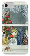 The Christmas Mouse IPhone Case by Ditz